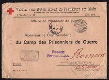 STORIA POSTALE GERMANIA 1917 Lettera Croce Rossa da Francoforte a Romans (FB9)