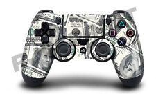 PLAYSTATION 4 (ps4) Controller Copertura/Pelle/Avvolgere - 100 DOLLARO Bill Design