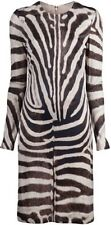 Giambattista Valli Paris $1835 Zebra Printed Dress Sz 40 XS Made In Italy