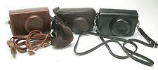 Three Small Camera Cases With Straps For Olympus, Panasonic, Samsung, Fuji, Sony