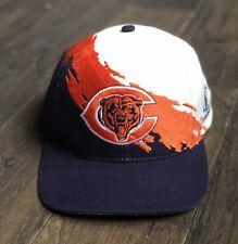 Vintage Chicago Bears Logo Athletic Splash Snapback Hat 90s NFL