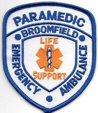 "Broomfield - Paramedic, Colorado (3"" x 3.75"" size) fire patch"