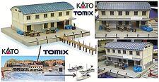 KATO by TOMIX galpón puerto con mercado de PESCADO y el muelle de acoplamiento