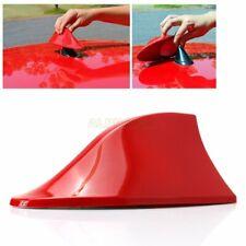 ABS Shark Fin Shape Antenna Aerial FM/AM Radio Signal Decoration Red Universal