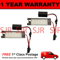 2X FOR VAUXHALL VECTRA C MERIVA INSIGNIA ASTRA 18 WHITE LED NUMBER PLATE LAMP