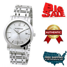 NEW  Burberry BU1351 Silver Tone Check Dial Women's Watch With Box Brand New