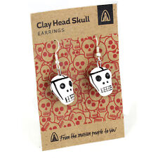 Skull Earrings Day of the Dead Style Guatemalan Fair Trade Hand Painted Heads