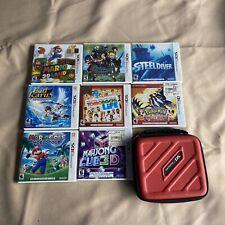 Lot of 12 Nintendo 3DS Games Mario, Pokemon, Kid Icarus + Case