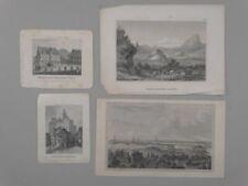 Tirol Schloss Quedlinburg Goslar - Stadtansichten Landschaft 4 Stahlstiche 1850