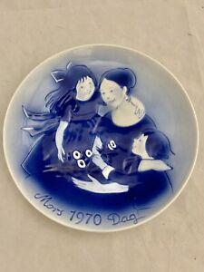 Desiree Denmark Old Copenhagen Blue 1970 Mothers Day Mors Dag Collector Plate