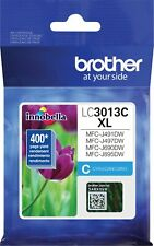 Genuine Brother LC3013C XL Ink Cyan Color Ink Cartridge High Yield