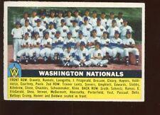 1956 Topps Baseball Card #146 Washington Nationals Team EXMT