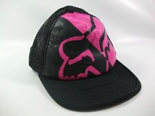 Fox Riders Co Krystal Hat Pink Black Snapback Trucker Cap