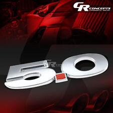 3M TAPE ON AUTO BODY METAL EMBLEM LOGO TRIM BADGE POLISH CHROME RED 5.0L 5.0 L