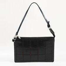 "Louis Vuitton Black ""Epi"" Leather ""Delmonico Pochette"" Bag"