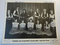 Rare Vintage BONNIE LOU BUSTER'S SMOKY MTN HAYRIDE SHOW AUTOGRAPH Country PHOTO
