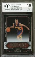 2009-10 Playoff ROY Contenders #10 Stephen Curry Rookie Card BGS BCCG 10 Mint+
