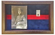 Large London Scottish Medal Display Case With Photograph For 2 Medals