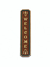 Dollhouse Miniature 1:12 Scale welcome sign - Artist Made