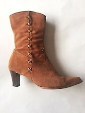 Suede Ankle Boots Beige-  Size  8