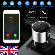 Wireless Bluetooth 4.2 Handsfree FM Transmitter Car Kit Mp3 Player 2 USB Charger