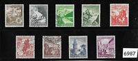 #6987 Complete 9 stamp set 1938 Winter relief fund Germany ScB123-B131