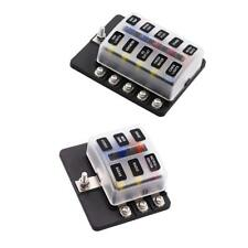 6&10-Way Blade Fuse Box LED Indicator for Blown Fuse Stud Terminals Car Boat