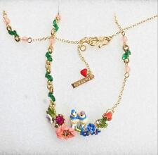 """Beautiful Enamelled """"Les Nereides"""" Bird Necklace - FREE UK P&P......CG0882"""