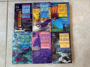 Lot 6 Harry Harrison Vintage Paperback Crime Books Tincture of Death Watch  80s