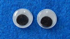 10 Wackelaugen (5 Paar) - 12 mm rund - zum Basteln - Augen zum basteln