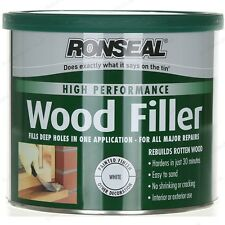 275g Ronseal High Performance White 2 pack White Wood Filler + Hardener