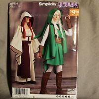 Simplicity Sewing Pattern W0105 Cosplay Costume Uncut Renaissance Robe Sz 6 - 14