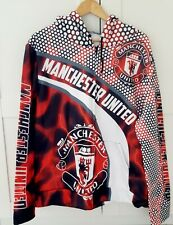 More details for manchester united long sleeve zipped hoodie xxl new