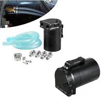 Oil Catch Can Kit Reservoir Tank Engine Black Baffled Universal CNC Aluminum
