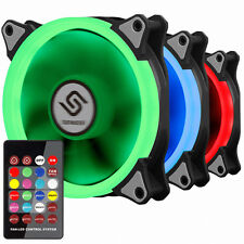 New Design PC Fan 120mm 25T 6 Pin Hydro Bearing RGB LED 2 EA  with Remote Kit