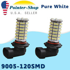 2x 9005 HB3 120-SMD LED Bulbs 6000K White Car Auto Driving Fog Lights Lamps DRL