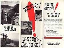 Western Colorado Vintage Travel Brochure B&W Photos Area Map
