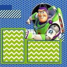 BUZZ LIGHTYEAR TOY STORY - Premade Scrapbook Pages - EZ Layout 961