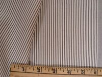 "3.88 yd English WOOL COTTON FABRIC Super Fine Stripe 7 oz SUITING Pearl 140"" BTP"