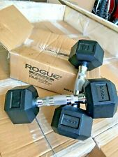 Rogue Fitness Rubber Hex Dumbbell Weights Set  10 LB 15 LB FREE SHIPPING - NEW