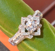 1.50cts Brilliant cut Gold white 14k Natural Diamond engagement ring SI1/G