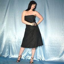 glänzend schwarzes PARTYKLEID* M 42 Cocktailkleid * Minikleid* Sommer Abendkleid