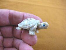 (Y-Tur-La-24) gray Tortoise land turtle carving Soapstone Figurine baby turtles