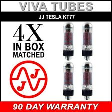 Brand New Plate Current Matched Quad (4) JJ Tesla KT77 Vacuum Tubes KT-77
