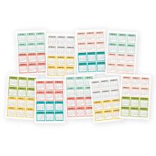 "Posh Mini Stickers 4""X6"" 9/Pkg - Calendar, July 2 16 - December 2 17"