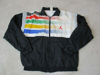 VINTAGE Nike Jordan Flight Jacket Adult Small Black Yellow Windbreaker Mens 80s