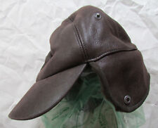 UGG Hat Aviator Chocolate Bomber Sheepskin Cap S/M NEW $165