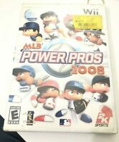 MLB Power Pros 2008 Nintendo Wii with Case & Video Game disc Only