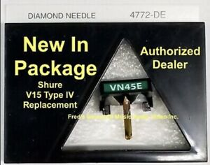 NEW Shure V15 Type IV VN45E 4772DE Pfanstiehl Turntable Needle Best Replacement