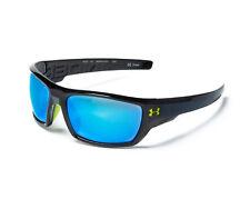 fcfb8a3edf New  100 UA Under Armour Assert Sport Sunglasses Black Gray Blue  Multiflection